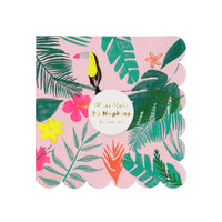 Tropical Print Napkins - Small