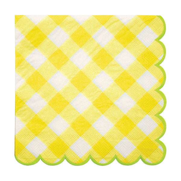 Yellow Gingham Napkin - Large