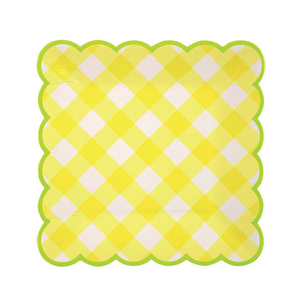 Yellow Gingham Plate - Small