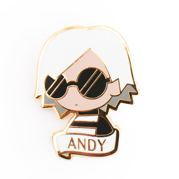 Andy Warhol enamel brooch is a perfect gift or party favor