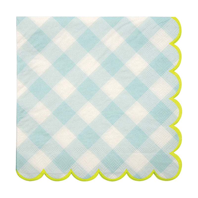Blue Gingham Napkin - Large