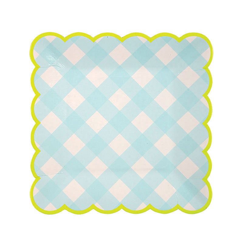 Blue Gingham Plate - Small