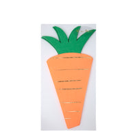 sixteen carrot paper party napkins perfect for spring and easter celebrations