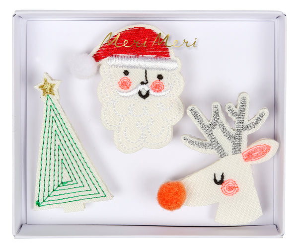Festive Embroidered Brooches