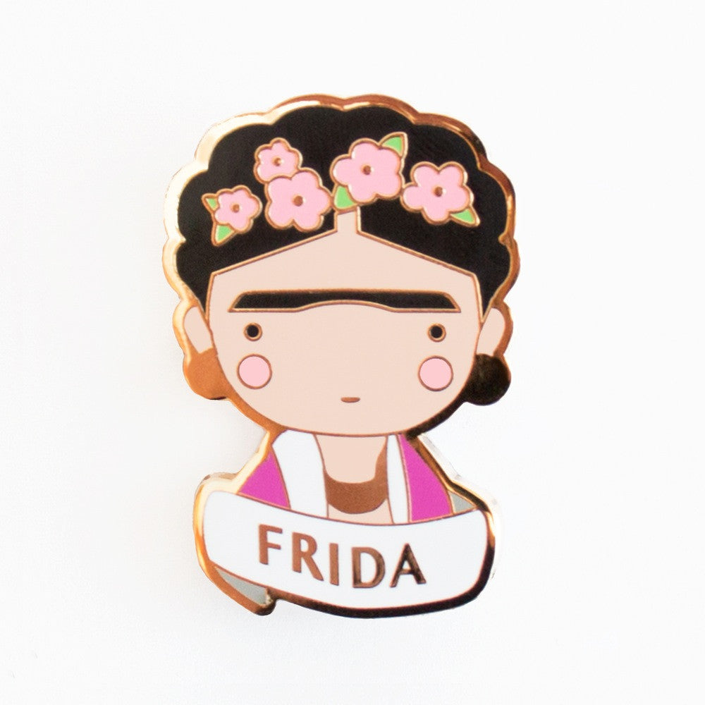Frida enamel brooch accessory is a perfect gift or party favor