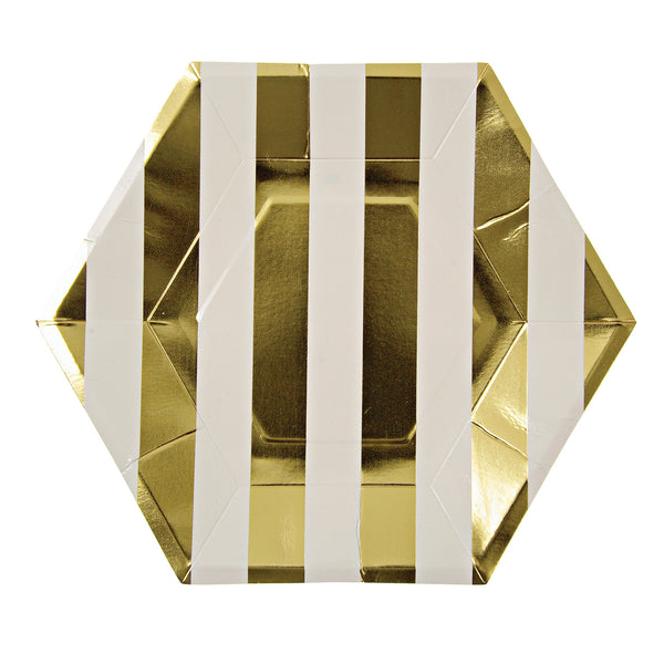 Gold Stripe Plate - Large