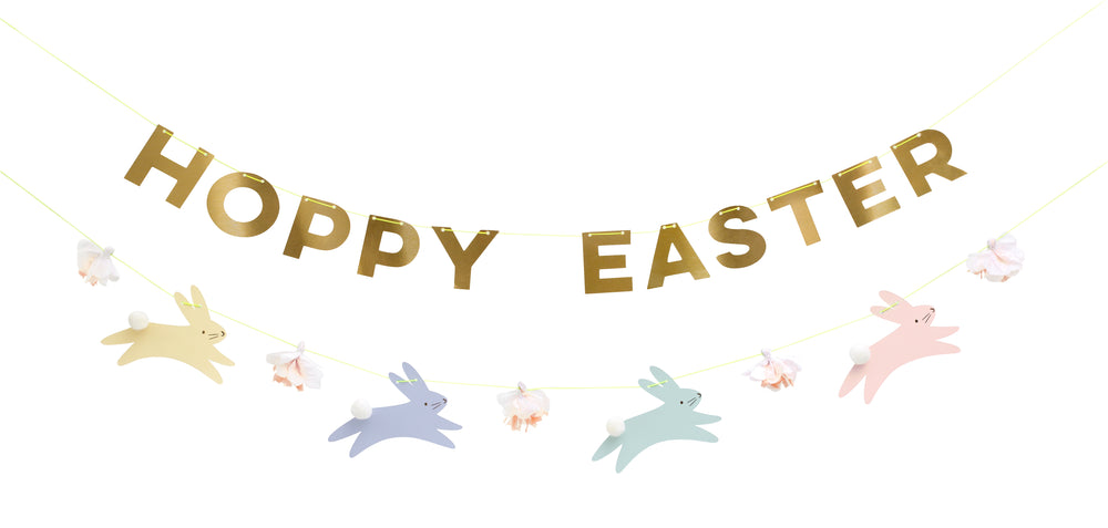Pastel Hoppy Easter Garland