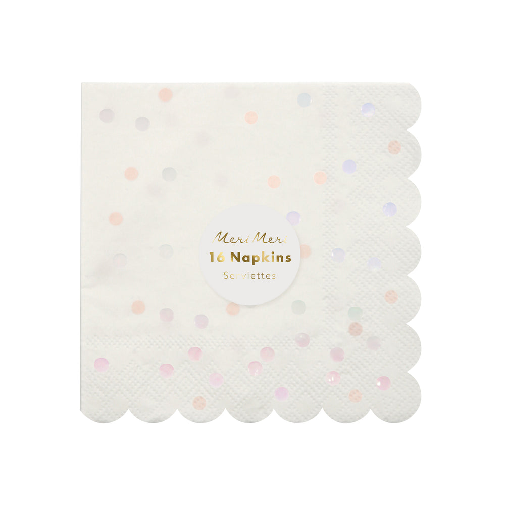 Iridescent Spot Napkins - Small