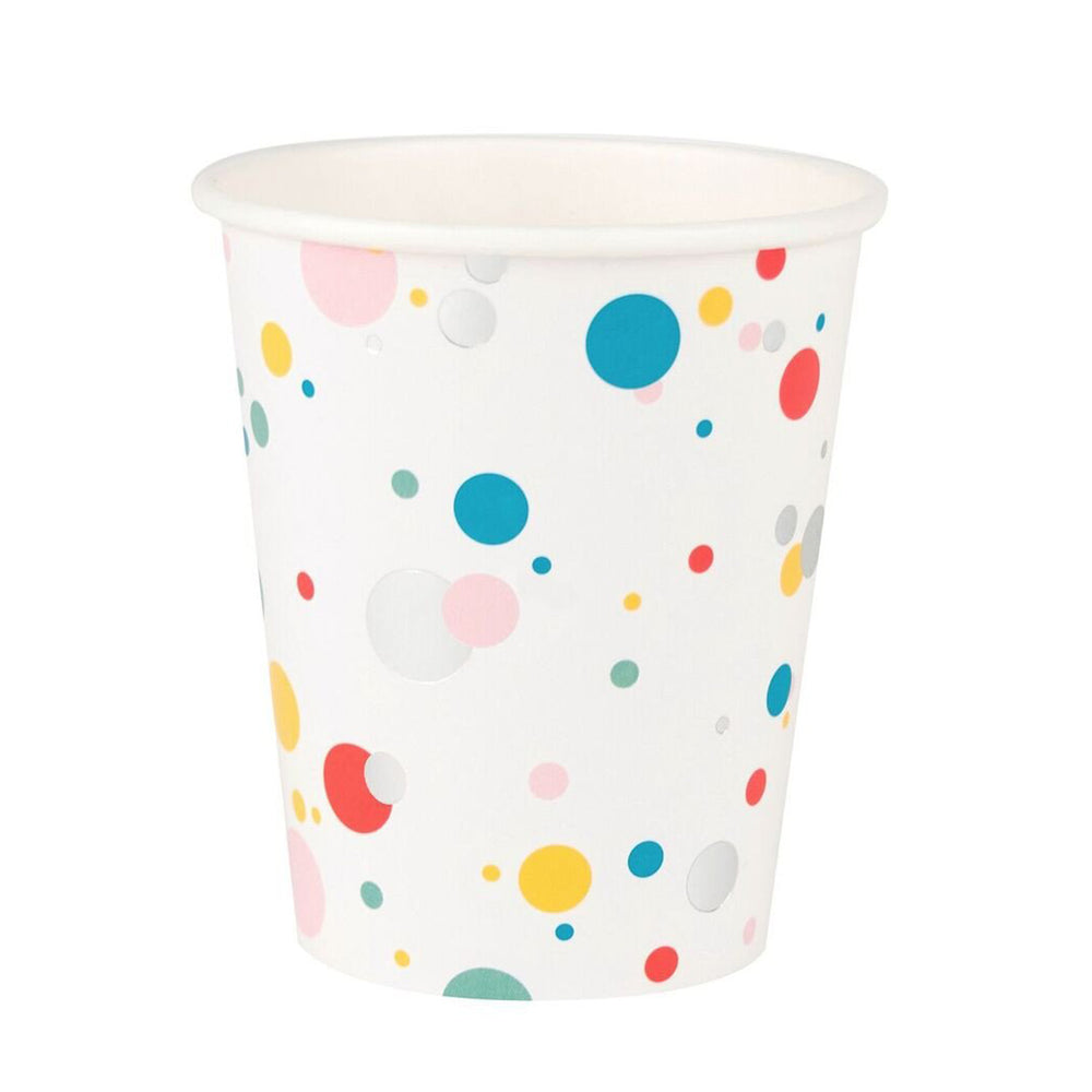 Multicolored Bubbles Party Cups