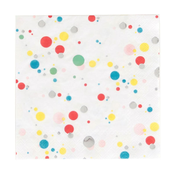 Multicolored Bubbles Napkin - Large