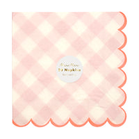 Pink Gingham Napkin - Large