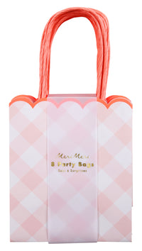 Pink Gingham Party Bags