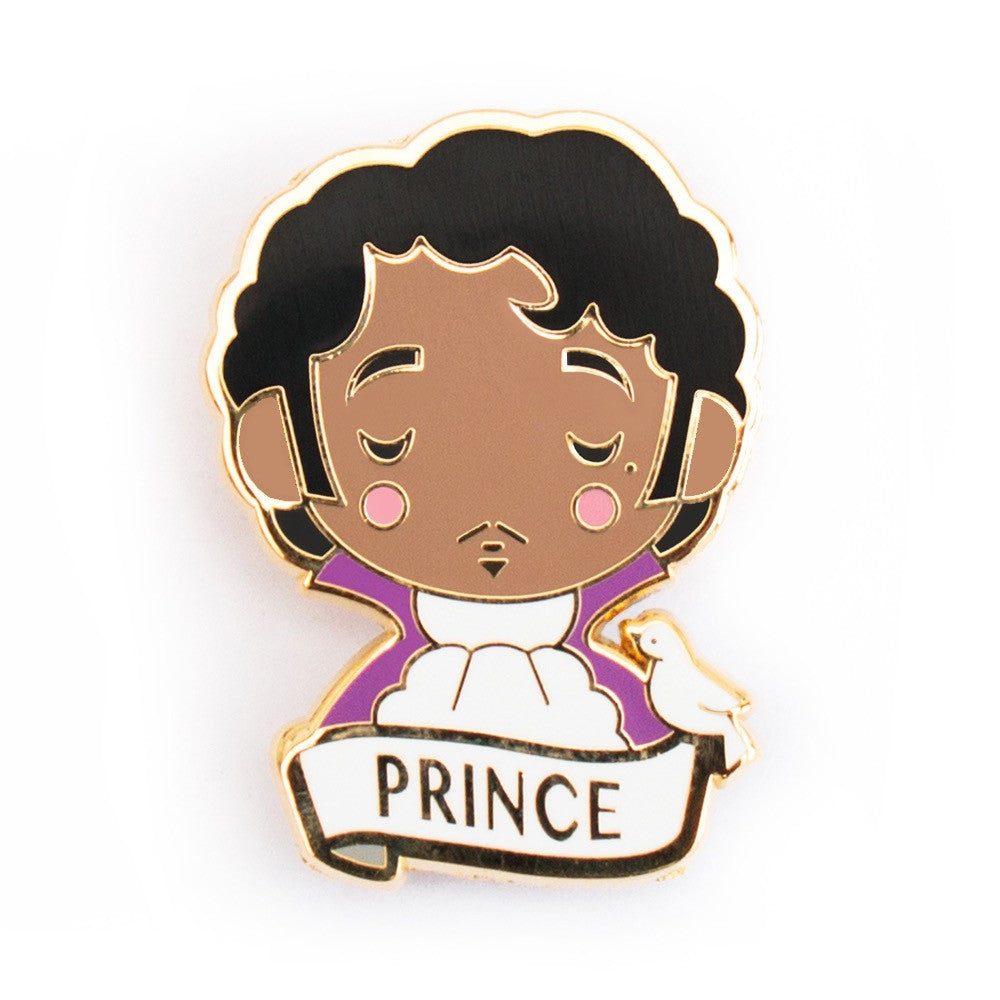 Prince enamel brooch from Sketch Inc is the perfect accessory, gift or party favor.