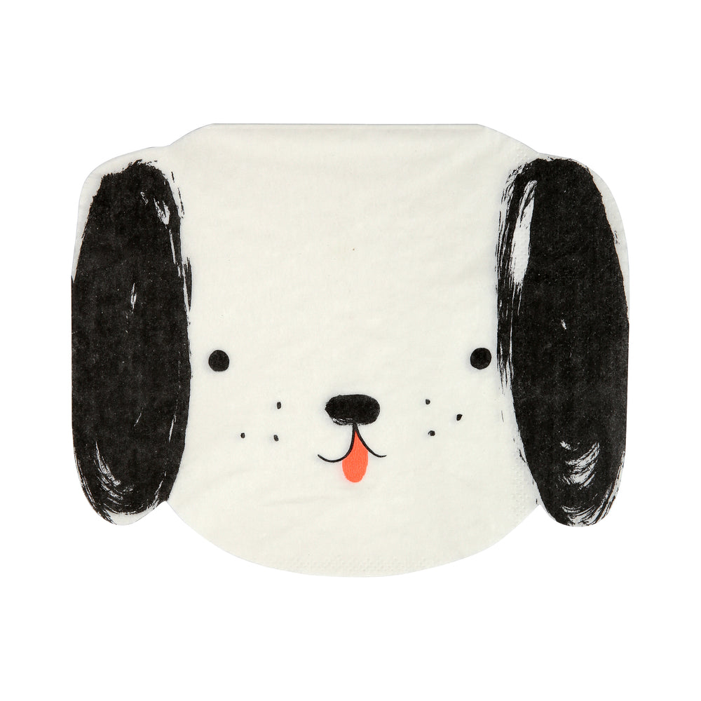 Dog Napkins - Black and White