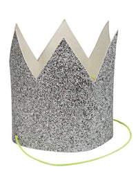 Silver Glittered Crowns - Mini