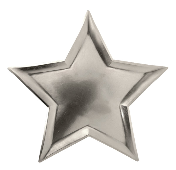 Star Plates - Silver Foil