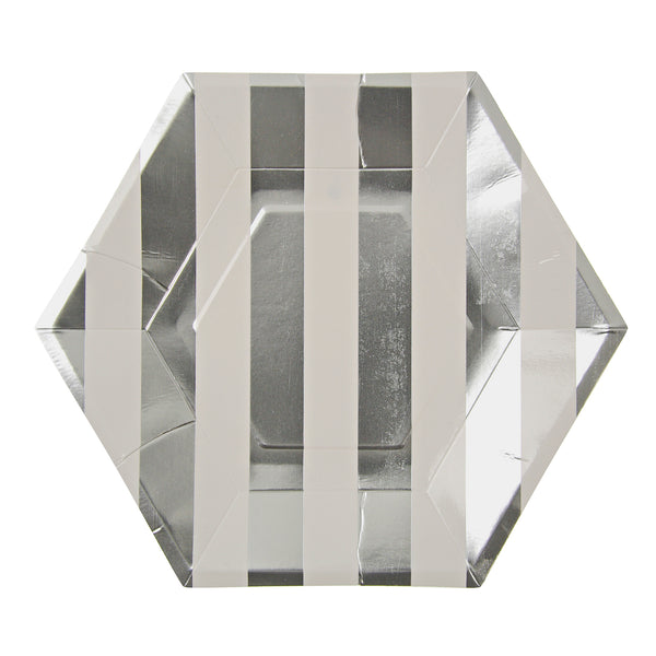 Silver Striped Plates - Large