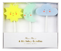 Sun, Moon & Cloud Candles