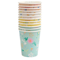 wildflower print cups in four colors