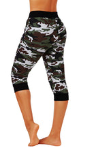 Premium Capri Sweatpants Camouflage Joggers Cotton Blend Casual Yoga Pants Sweatpants FDJR001