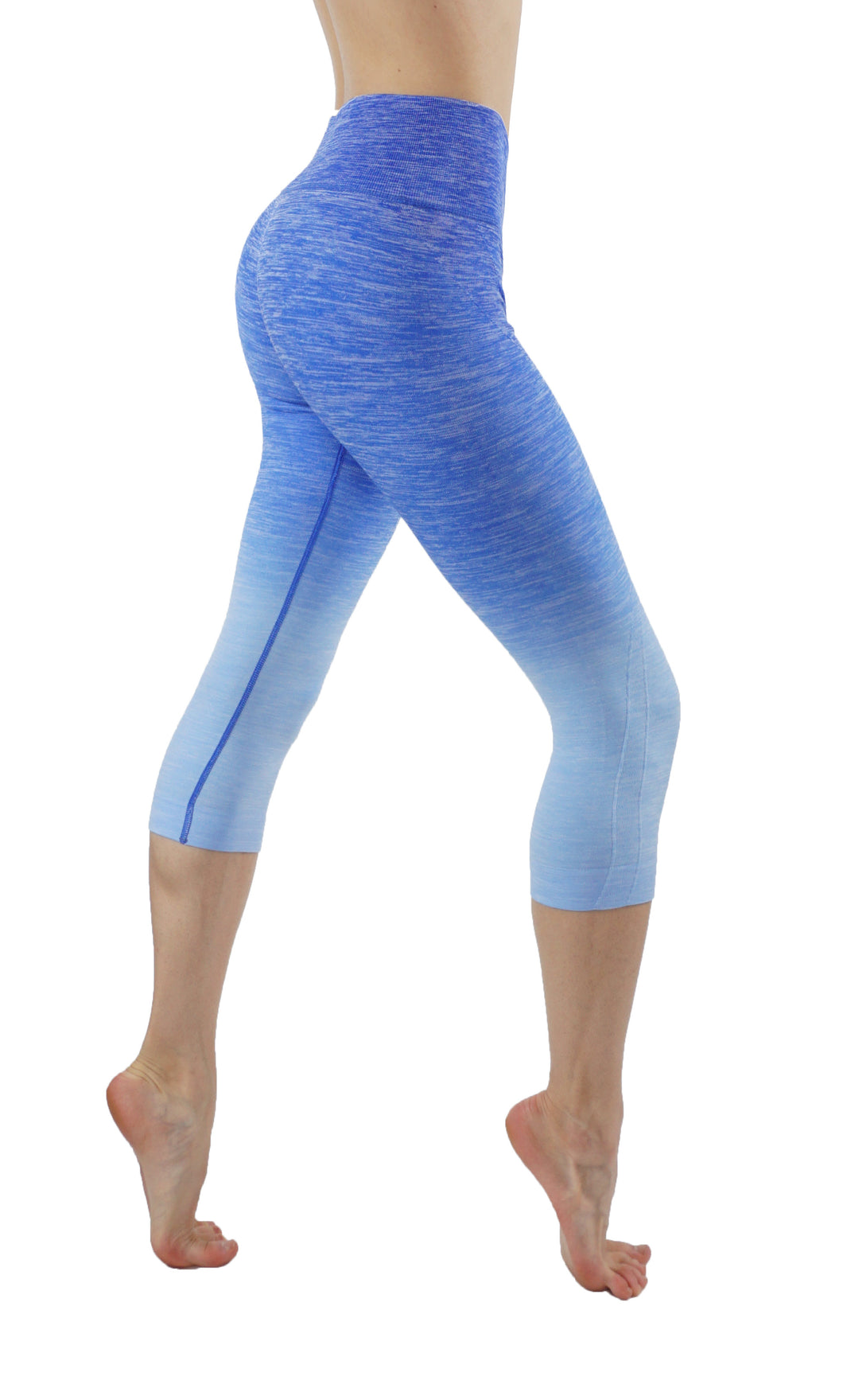Yoga Power Flex Dry-Fit Pants Ombre print capri leggings
