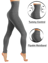CodeFit Thick French Terry High Waist Tummy Control Body Shaping Leggings