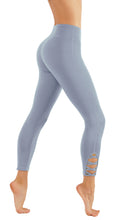 Yoga Leggings For Petite Ladies 7/8 Length with Cris-Cross Leg Cutouts