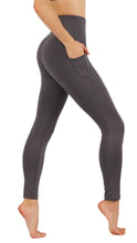 Yoga Pants Power Flex Dry-Fit Deep Pockets in Both Side Leg Full Length Leggings