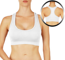 Extra soft sports bra with racerback