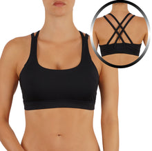 Women's Yoga Bra Sports Top Features a Criss Cross Straps Back