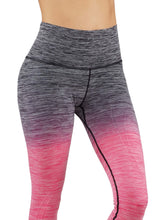 Yoga Power Flex Dry-Fit Pants Workout Printed Leggings NEW Ombre Print
