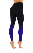 Yoga Power Flex Dry-Fit Pants Workout Printed Leggings Ombre Print full length