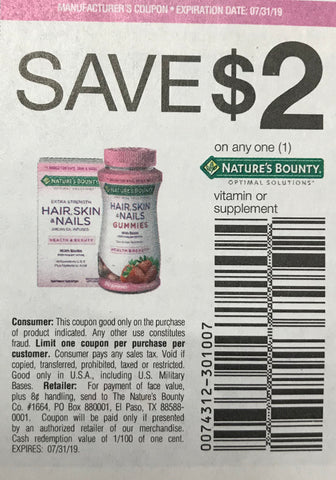 picture relating to Nature's Bounty Coupon Printable $5 titled RetailMeNot2 6-9