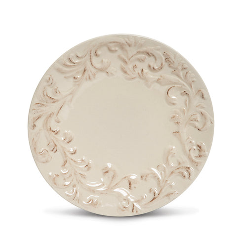 "The GG Collection Gracious Goods 11""D Acanthus Leaf Dinner Plate, Set of 4 - Avenue of Oaks Decor"