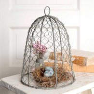 CHICKEN WIRE CLOCHE - Avenue of Oaks Decor