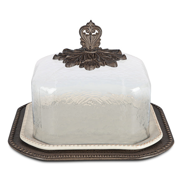 The GG Collection Acanthus Leaf Pastry Keeper - Avenue of Oaks Decor