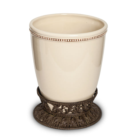The GG Collection Gracious Goods Acanthus Leaf Trash Can - Avenue of Oaks Decor