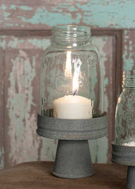 Mason Jar Chimney with Stand - Midget Pint - - Avenue of Oaks Decor