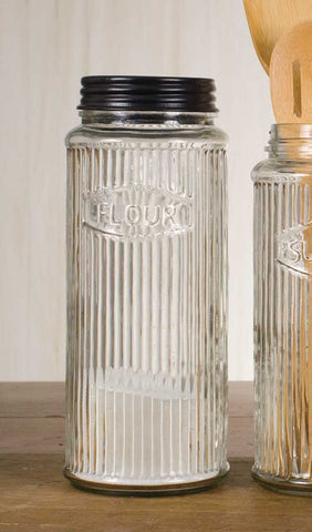 GLASS HOOSIER FLOUR STORAGE JAR - Avenue of Oaks Decor