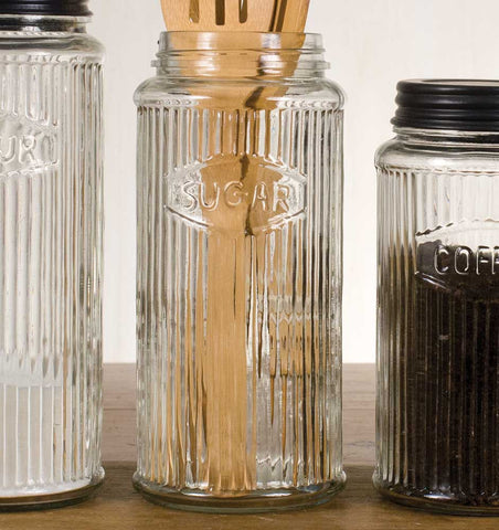 GLASS HOOSIER SUGAR STORAGE JAR - Avenue of Oaks Decor