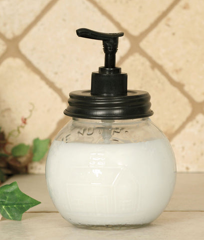 GLASS NUT HOUSE SOAP DISPENSER - Avenue of Oaks Decor