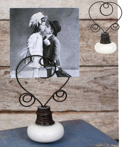 Set of 2 - Vintage Doorknob Photo Holder - Avenue of Oaks Decor