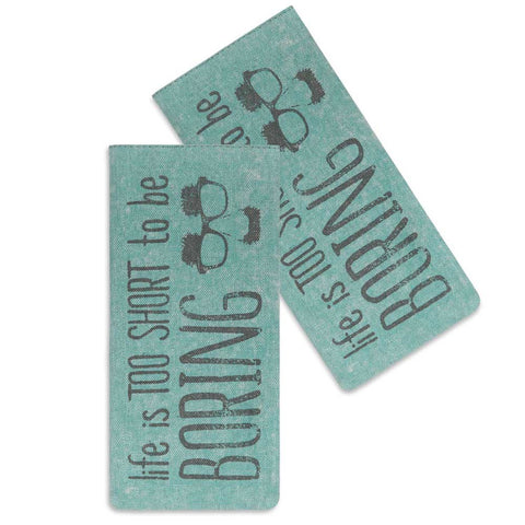 LIFE IS TOO SHORT TO BE BORING GLASSES CASE - Avenue of Oaks Decor