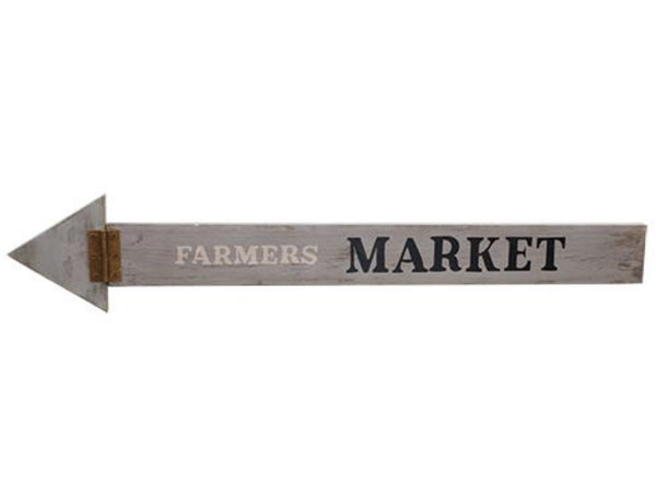 FARMERS MARKET WOODEN ARROW SIGN - Avenue of Oaks Decor