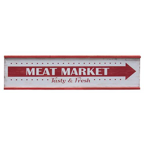 MEAT MARKET RUSTIC WOODEN SIGN - Avenue of Oaks Decor