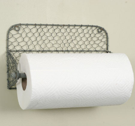 CHICKEN WIRE HANGING PAPER TOWEL HOLDER - Avenue of Oaks Decor