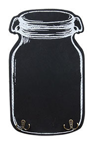 MASON JAR CHALKBOARD WITH HOOKS - Avenue of Oaks Decor