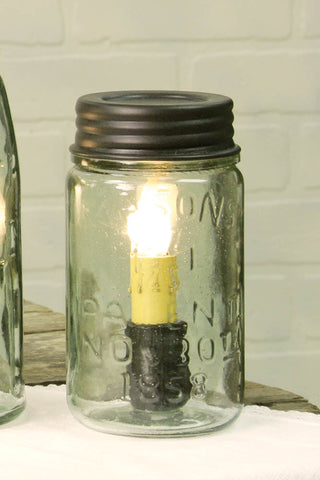 MASON JAR PINT LAMP - Avenue of Oaks Decor
