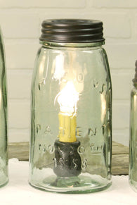 MASON JAR LAMP, QUART SIZE - Avenue of Oaks Decor