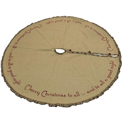MERRY CHRISTMAS TREE SKIRT, 48 INCHES - Avenue of Oaks Decor